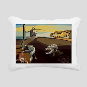Persistence of Sloths Rectangular Canvas Pillow