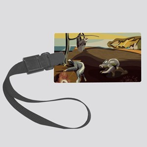 Persistence of Sloths Large Luggage Tag