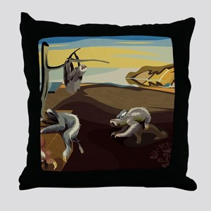 Persistence of Sloths Throw Pillow