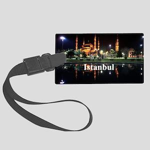 Istanbul_5x3rect_sticker_HagiaSo Large Luggage Tag