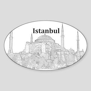 Istanbul_15x10_HagiaSophia Sticker (Oval)