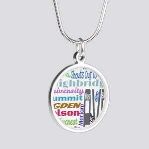 FAMILY TIES Silver Round Necklace