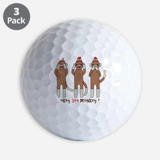 Monkey See Monkey Do Golf Ball