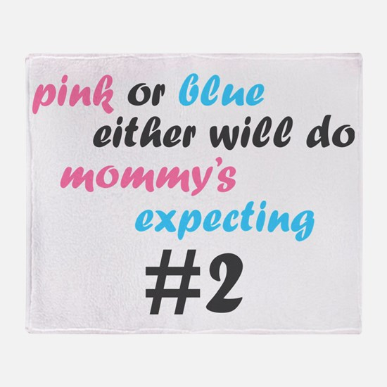 Pink or Blue Throw Blanket