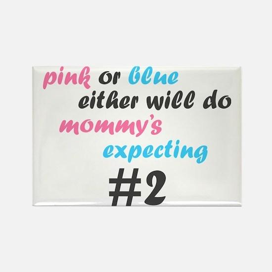 Pink or Blue Rectangle Magnet