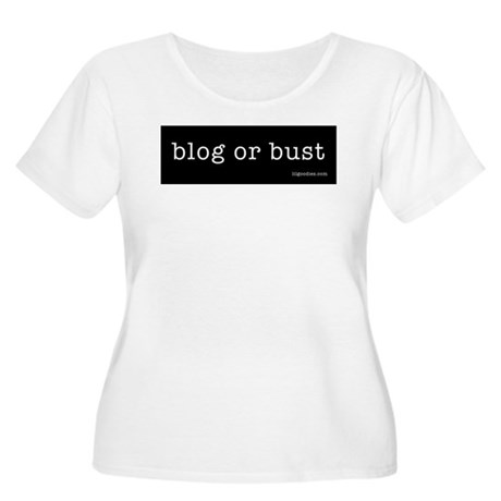 blog or bust Women's Plus Size Scoop Neck T-Shirt