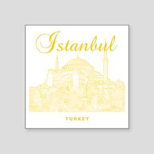 """Istanbul_12X12_HagiaSophia_ Square Sticker 3"""" x 3"""""""