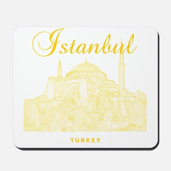 Istanbul_12X12_HagiaSophia_Yellow Mousepad