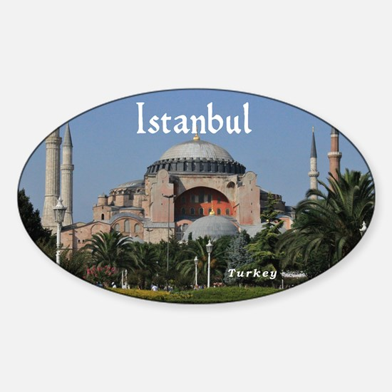 Istanbul_19X12_Bag_HagiaSophia Sticker (Oval)