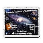 Awesome God Mousepad (Jeremiah 1:5)