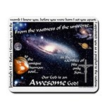 Awesome God Mousepad (Jeremiah 1:5)