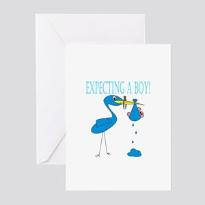 Expecting a Boy Greeting Cards (Pk of 10)