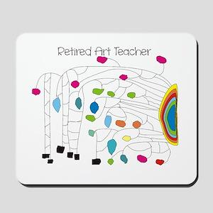 Retired Teacher B Art Mousepad