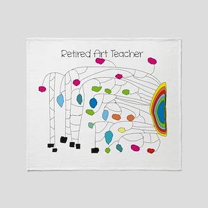 Retired Teacher B Art Throw Blanket