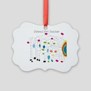 Retired Teacher B Art Picture Ornament