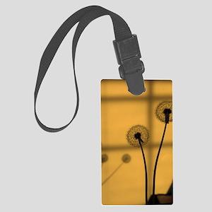 Golden Dandelion Large Luggage Tag