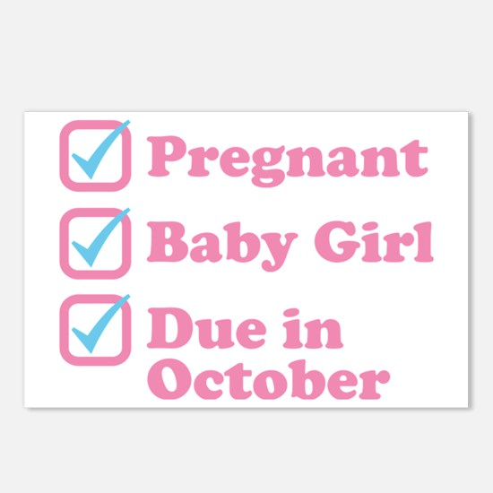Due in October Postcards (Package of 8)