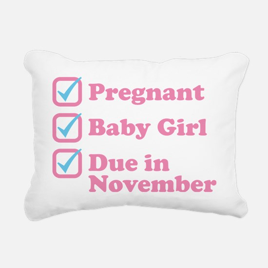 Due in November Rectangular Canvas Pillow