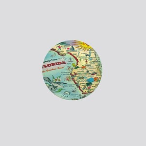 Vintage Florida Greetings Map Mini Button