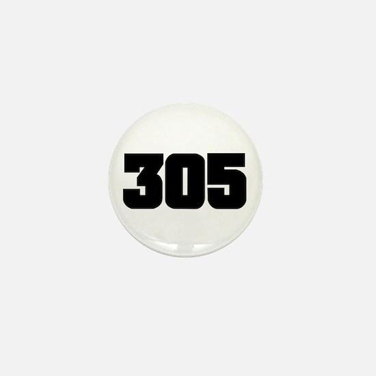 305 Black Slab Style Mini Button