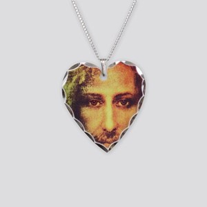 Image of Christ Necklace Heart Charm