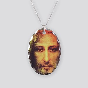 Image of Christ Necklace Oval Charm
