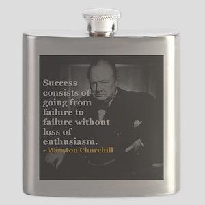 Winston Churchill on Sucess over failure  Flask
