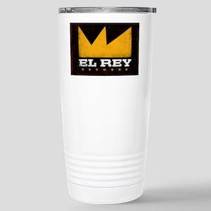 El Rey Black Logo Stainless Steel Travel Mug