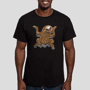 Baby Sloth Men's Fitted T-Shirt (dark)