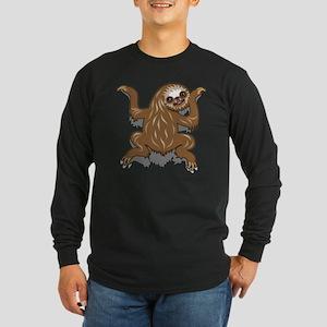 Baby Sloth Long Sleeve Dark T-Shirt