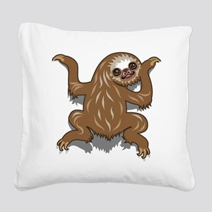 Baby Sloth Square Canvas Pillow