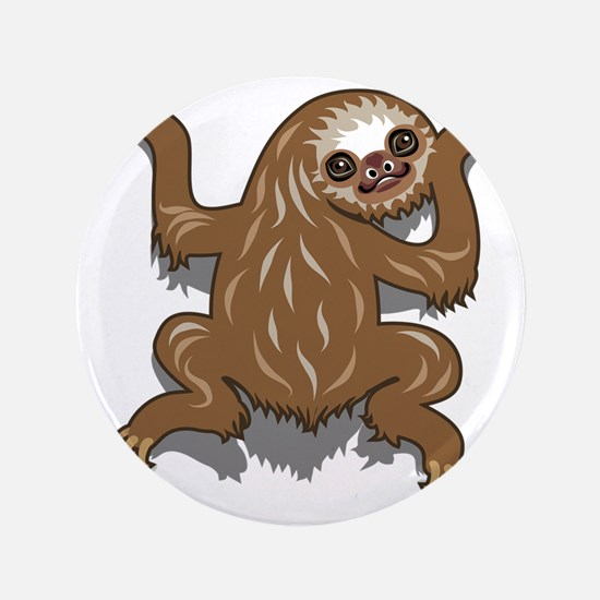 """Baby Sloth 3.5"""" Button"""