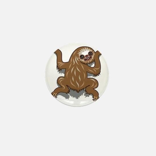 Baby Sloth Mini Button