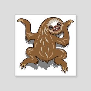 "Baby Sloth Square Sticker 3"" x 3"""