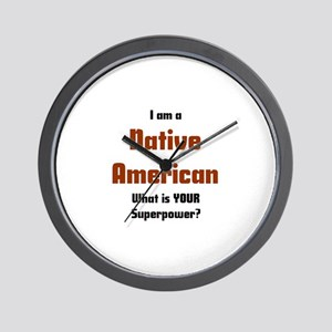 i am native american Wall Clock