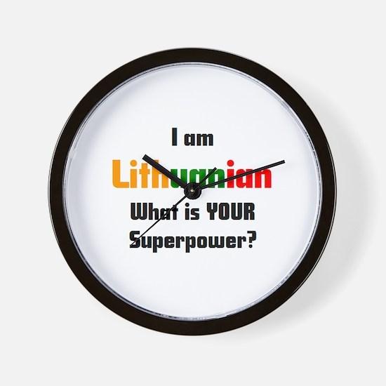 i am lithuanian Wall Clock