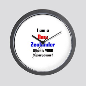 i am new zealander Wall Clock