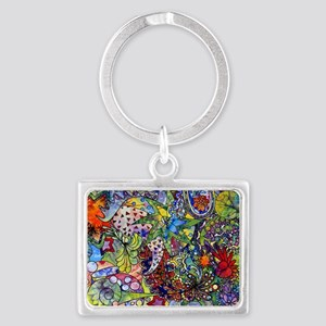 cool Paisley Landscape Keychain