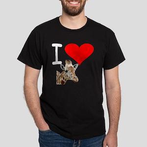 i love giraffe Dark T-Shirt