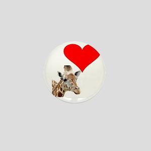 i love giraffe Mini Button