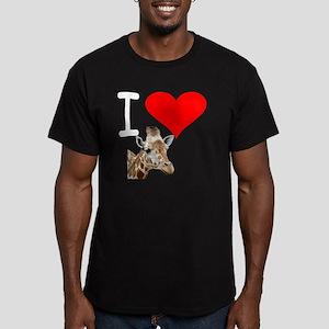 i love giraffe Men's Fitted T-Shirt (dark)