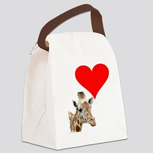 i love giraffe Canvas Lunch Bag