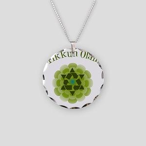 Tikkun Olam Recycle Necklace Circle Charm