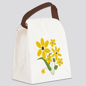Summer Yellow Flowers Canvas Lunch Bag