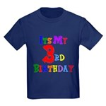 3rd Birthday Kids Dark T-Shirt