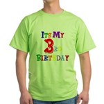 3rd Birthday Green T-Shirt