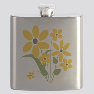 Summer Yellow Flowers Flask