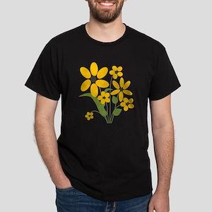 Summer Yellow Flowers Dark T-Shirt