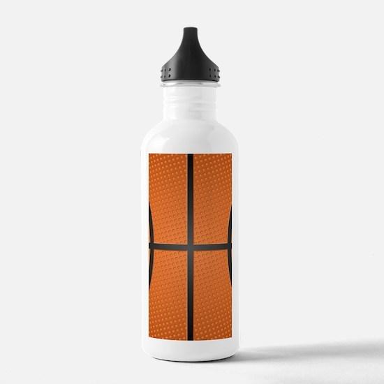 Basketball Pattern Water Bottle