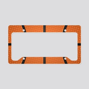 Basketball Pattern License Plate Holder